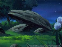 Einer der großen Felsen von Redstone (Serie)