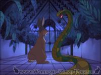 Die Schlange, die im Gewächshaus wohnt, greift Hazel an