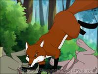 Der Fuchs greift Gorse und Thistle an